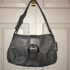 Coach purse, gray, barely used, great condition.